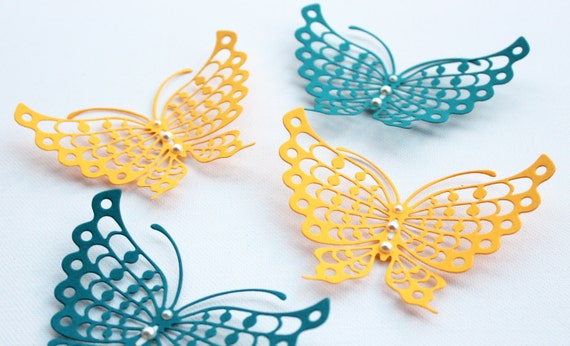 Items similar to 3D Butterfly Wall Art - Paper Butterflies - 3d ...