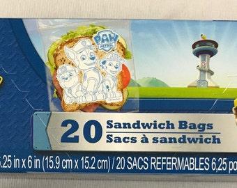 Dogs Sandwich Bags 20ct
