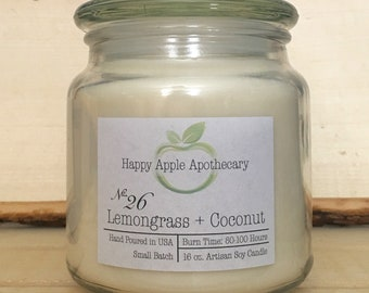 No. 26 Lemongrass + Coconut Soy Candle