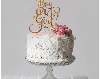 Baby Shower Cake Toppers Boy or Girl Cake Topper Gender Reveal Cake Topper Baby Shower Decor New Baby Cake Topper