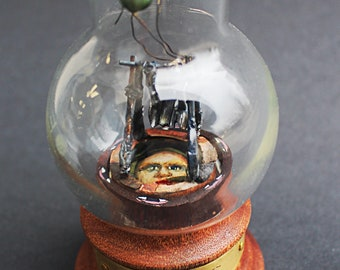 Glass and Wood Designs,miniature Worlds,miniature Dwellings,Glass Dome,cabinet of curiosities,unusual home decor,dreamy,handmade,rustic