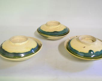 Bowls 6110,  Oribe, lidded bowl
