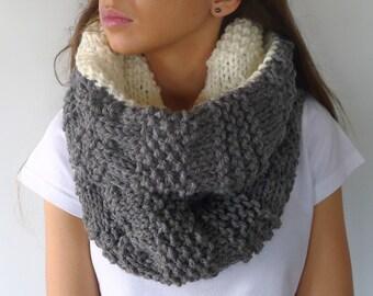 Cuello reversible hecho a mano   Cuellos tejidos para mujer   Cuellos originales   Bufandas tejidas   Ideas para regalar para ella