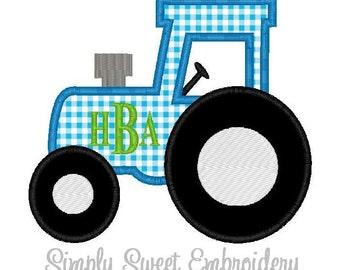Tractor Machine Embroidery Applique Design