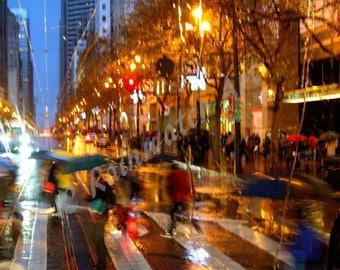 Rainy Day San Francisco down town