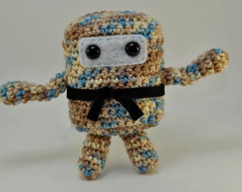 Mini Ninja Plush - Mirage - Tan Blue Camo  - Cream Brown Blue