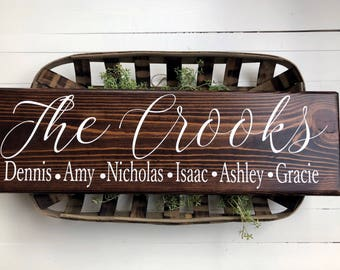 Family Sign | Family Name sign | Personalized Sign | Custom Name Sign | Last name sign | Family Names Signs | Personalized Gifts | Kids Name
