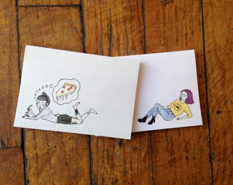 Pizza and Burger Post It Notes