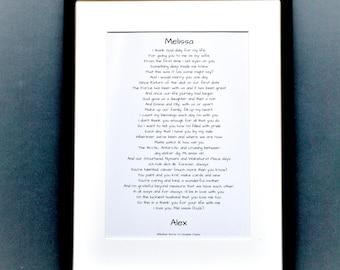 Personal love poem, commission a love poem, unique love poem, love poem to order, just because poem, I love you poem
