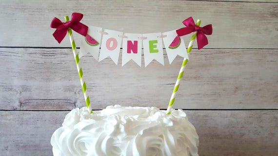 One In A Melon Cake Topper One In A Melon Party Decorations