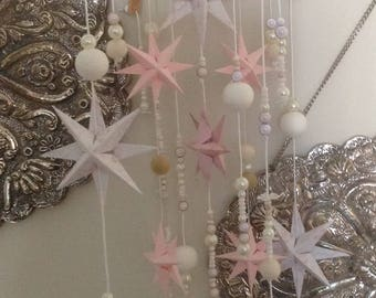 Aurora. Baby Bling. A nursery mobile for a sleeping princess to wake up to. Baby girl mobile. Pink Star Mobile. Nursery decoration.