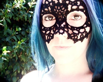 Tatted Lace Mask - As The World Falls Down