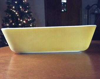 Vintage yellow Pyrex ovenware 8 x 6 baking dish. Primary colors set - yellow. 1.5 quart.