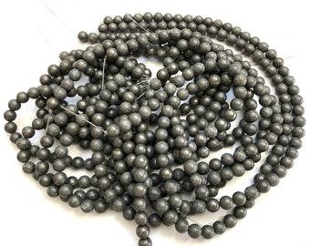 """Pyrite 8mm round beads 15"""" strand"""
