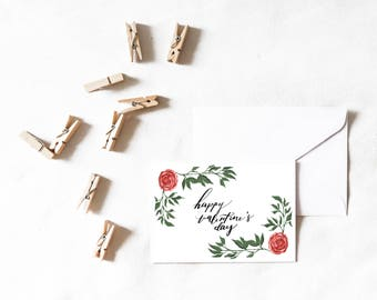 Valentine's Day Card (Roses) | 5x7 Greeting Card [PRINT]