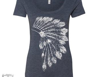 Womens HEADDRESS TriBlend Scoop Neck Tee - T Shirt S M L XL XXL (+ Colors)