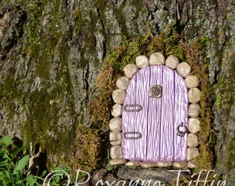 Enchanted Floral Garden - Lavender Love Fairy Door