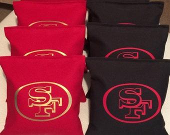 Cornhole Bags Bean Bags/Baggo Toss ACA Regulation Sz Double Stitched Set of 8 (3)