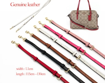 Genuine leather adjustable crossbody bag straps replacement bag strap for COACH LOUIS VUITTON KR020