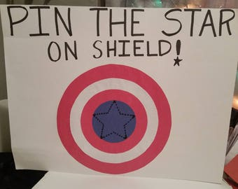 Pin the Star on the shield