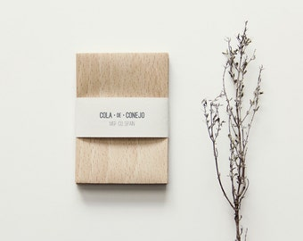 Paper bag with wood look - beech (mini)