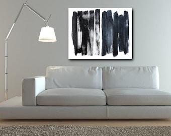 CUSTOM, Black and White Abstract Art, abstract expressionism, custom art, modern art, black, wall art, canvas art, original art