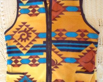 Fleece sleeveless women's vest, small