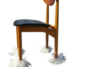White Set Furniture Chair Boots   Fur Chair Socks   Fur Furniture   White Fur   White Fur Decor   White Fur Accent   Fur Chair  