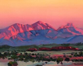 Morning Glow Mt Sonder Zentralaustralien
