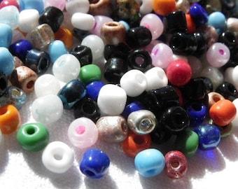 200 perles envron 4 mm multicolore