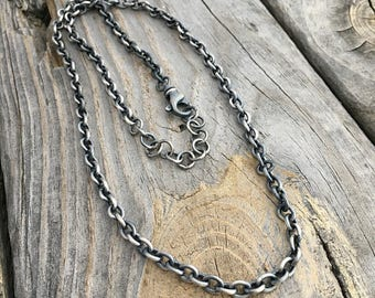 Sterling Silver Chain Made To Order Custom Length By Joy Kruse Wild Prairie Silver