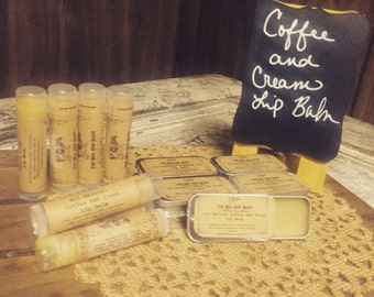 All-Natural Coffee and Cream Lip Balm, Coffee Lip Balm, Lip Balm, Coffee, Coffee Gift, Lip Chap, Lip Cream