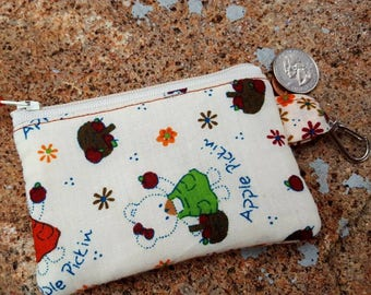 Teddy Bear Coin Purse, Girls Zipper Wallet, Change Purse, Ear Bud Pouch, Kids change Purse