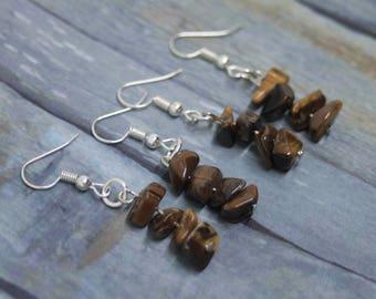 Tiger Eye Earrings, Tigers Eye Earrings, Gemstone Earrings, Tiger Eye Jewelry, Tigers Eye Jewellery, Brown Earrings, Dangle Earrings, Boho