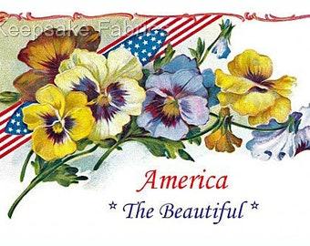 Pansies America The Beautiful Refrigerator Magnet Free Ship USA