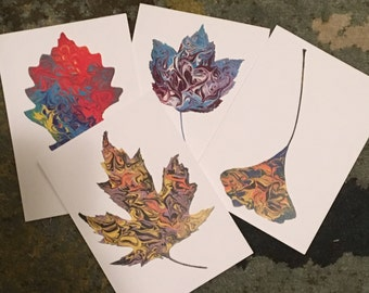 Set of 4 blank 5x7 note cards