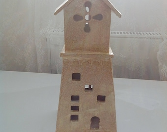 Handmade Ceramic Prayer Tower