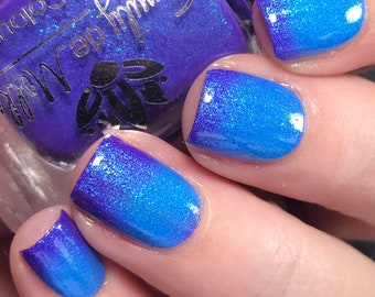 """Nail polish - """"Double Take"""" A blue to purple thermal with blue shimmer"""