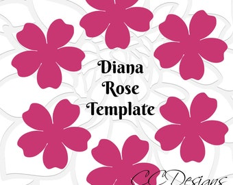 Printable Paper Rose Templates- DIY paper flowers- Printable PDF rose pattern- Rose template outline- paper flower templates
