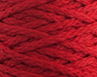 10 Yards Braided Macrame Cord - Red