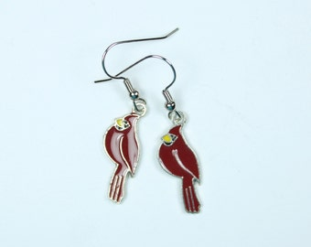 "Earrings - Handmade, Charming Style - Red Cardinal Charms ""The Cardinal Rule"""