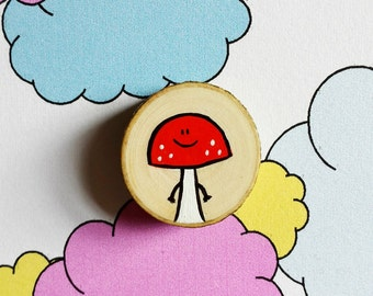 Miniature Painting Woodslice - Magnet or Badge - You decide!