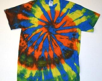 Hello Sunshine ~ Spiral Tie Dye T-Shirt (Gildan Ultra Cotton Size M) (One of a Kind)