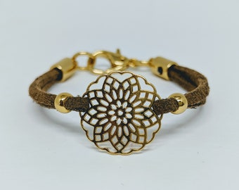 wg bracelet web front white tiny vieri gold collection mandala