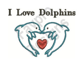 Love Dolphins - Machine Embroidery Design