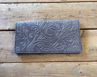 Leather check book cover, Cowhide check book cover, western check book, rustic check book