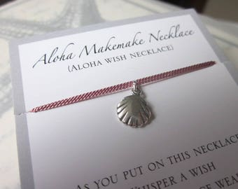 Aloha Wish Necklace - Silver Clam Shell