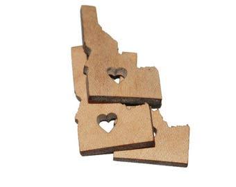 Unfinished wood, Love Idaho cutout. X6