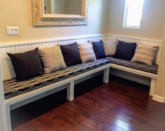 Bench Seat Nook Window Cushions Custom Made EXAMPLE