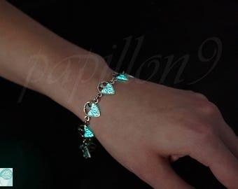 Tree of Life Bracelet / GLOW in the DARK / Glow Bracelet / Tree of Life / Sterling Silver Bracelet /